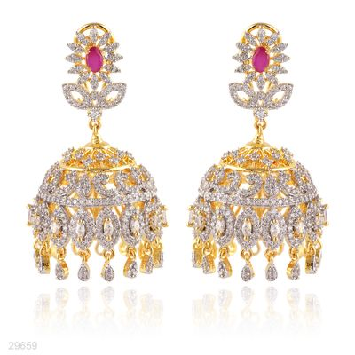57c09caff Earring Designs in Gold Artificial Indian Jewellery for Bridal Mehndi  Party  Tesoro.pk
